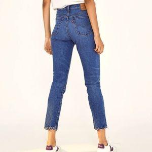 Levi's 501 high rise skinny jean medium wash
